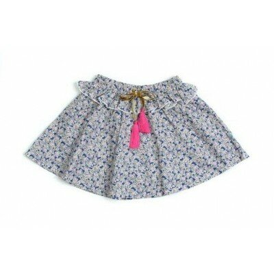 Girls Clothes - Alex and Ant Tassel Skirt Blue Floral