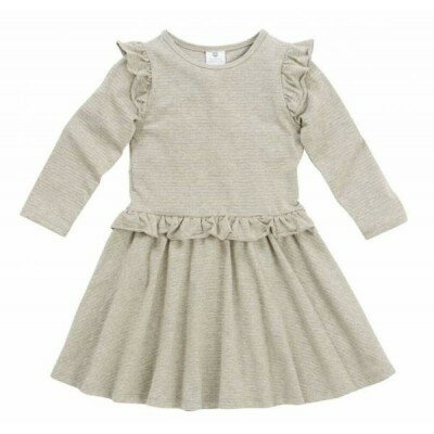 Hootkid Lets Spin Dress Grey