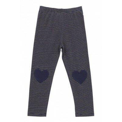 Hootkid Valentine Legging Navy - Designer Girls Clothes