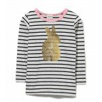 Baby Girl Clothes - Milky Foil Rabbit Tee