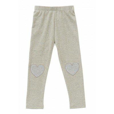 Hootkid Valentine Legging Grey - Designer Girls Clothes