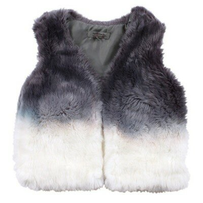 Girls Clothes - Fox and Finch Dip Dyed Fur Vest
