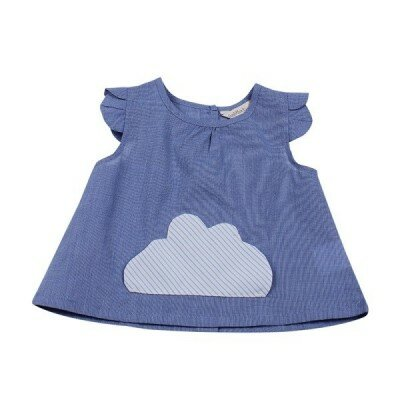 Girls Clothes - Madison Cloud Pocket Top