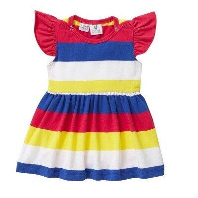 Baby Girl Rompers - Hootkid Stripey Stripe Onesie