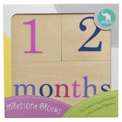 Baby Girl Gifts - All4Ella Milestone Blocks - Girl