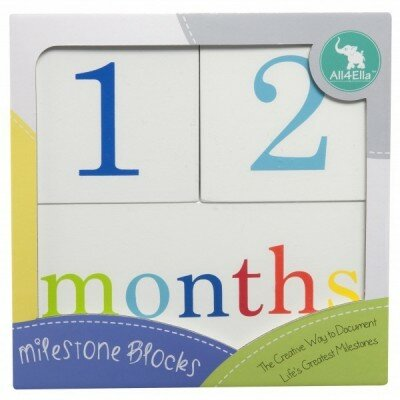 Unisex Baby Gifts - All4Ella Milestone Blocks White