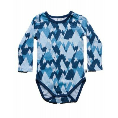 Baby Boy Rompers - Mountain Longsleeve Bodysuit