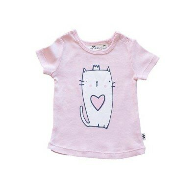 Little Bubba Kitty Tee - Designer Baby Girl Clothes