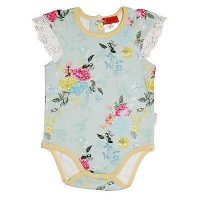 Baby Girl Rompers - Love Henry Elka Romper Aqua Floral