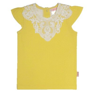 Girls Clothes - Love Henry Elka Lace Neckline Top