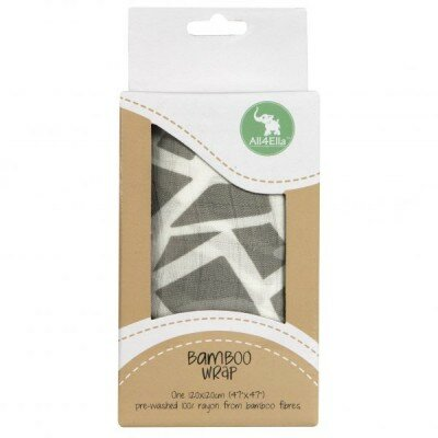 Baby Gift Ideas - All4Ella Bamboo Wrap Geo Grey