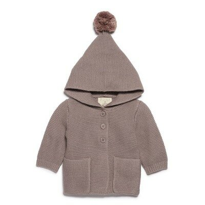 Wilson and Frenchy Knitted Jacket With Hood - Smoke Grey
