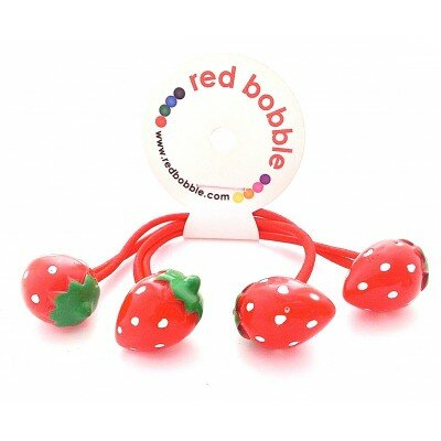 Red Bobble Mini Strawberry Ties