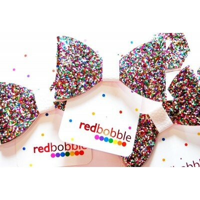 Girls Accessories - Red Bobble Giant Glitter Bow