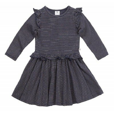 Hootkid Lets Spin Dress Navy