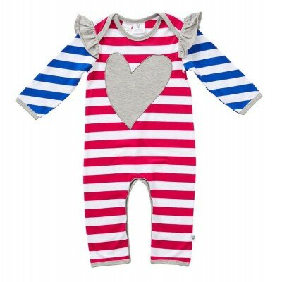 Hootkid Love The Stripe Romper