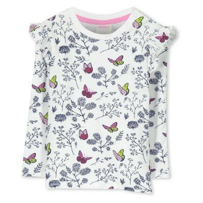 Baby Girl Clothes - Milky Butterflies Tee
