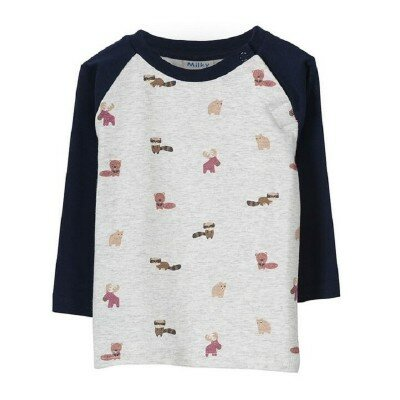 Baby Boy Clothes - Milky Animal Tee
