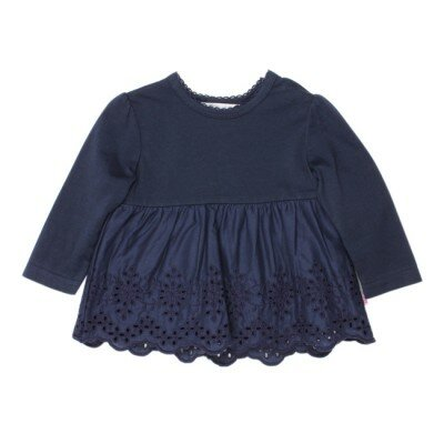 Bebe Indigo Top With Cut Work