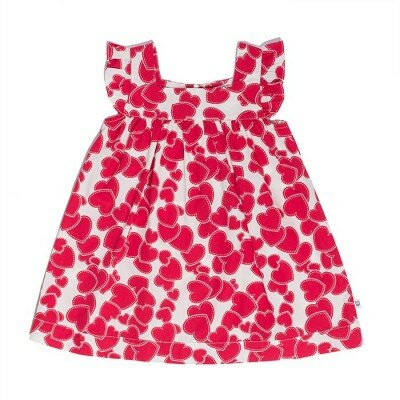 Hootkid Little Frill Dress - Red Heart