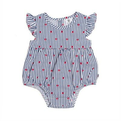 Hootkid Love Stripes Romper