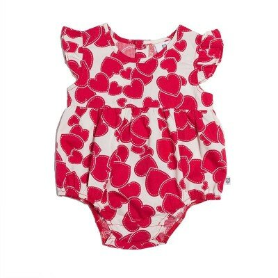 Hootkid - Little Frill Romper - Blooming Heart