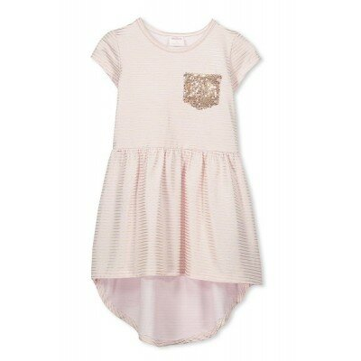 Milky Lurex Stripe Dress - Ballet Pink