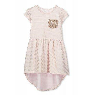 Milky Lurex Stripe Dress - Ballet Pink