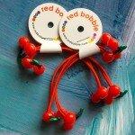 Red Bobble Mini Cherry Ties