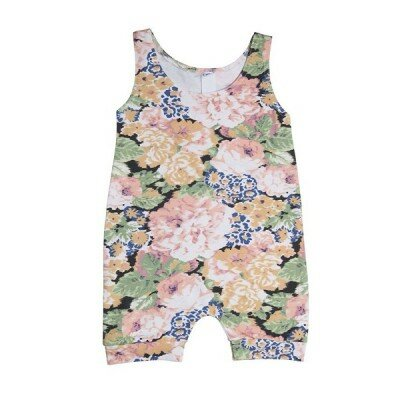 He and Her Peony Bloom Romper