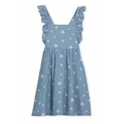 Milky Denim Pinny Dress