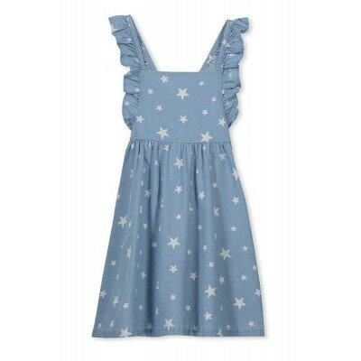 Milky Denim Pinny Dress