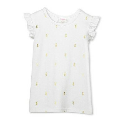 Milky Pineapple Foil Tee - Girls