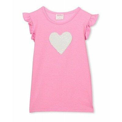 Milky Sequin Heart Tee - Baby