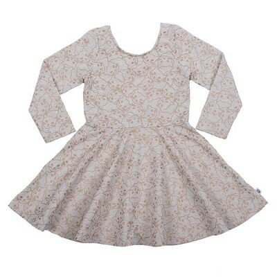 Hootkid Gold Kitty Cassandra Dress