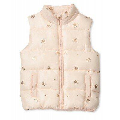 Milky Puffer Vest - Dusty Blush