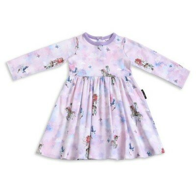 Aster and Oak Unicorn and Fairy Flare Dress
