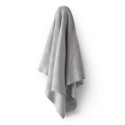 Wilson and Frenchy Scalloped Knit Blanket - Grey