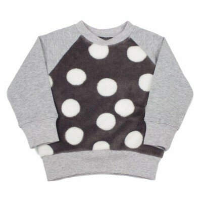 SOOKIbaby Big Dot Fleece Sweater