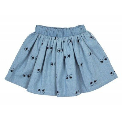 Tiny Tribe Ghost Eyes Skirt - Chambray