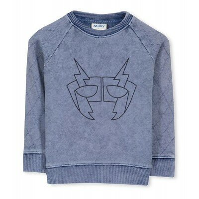 Milky Mask Stitch Crew Sweat