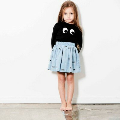 Tiny Tribe Ghost Eyes Skirt
