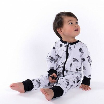 Aster and Oak Mono Cloud Zip Romper