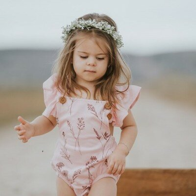 Aster and Oak Wildflower Cross Back Playsuit