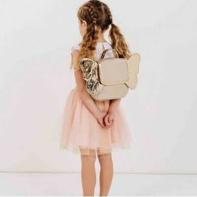 Milky Butterfly Backpack - Gold