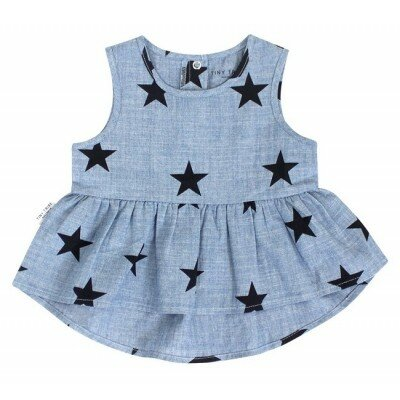 Tiny Tribe Star Peasant Frilly Tank