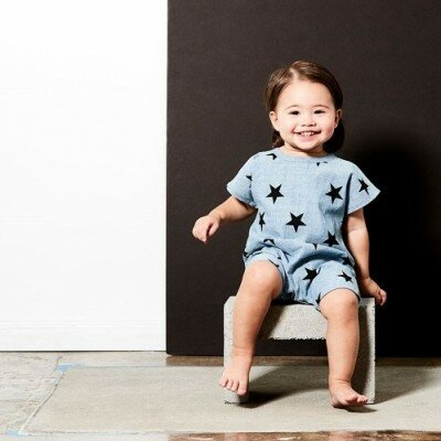 Tiny Tribe Chambray Star Playsuit