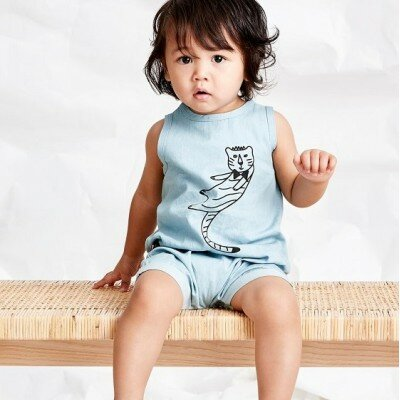 Sookibaby Cool Cat Sleeveless Playsuit