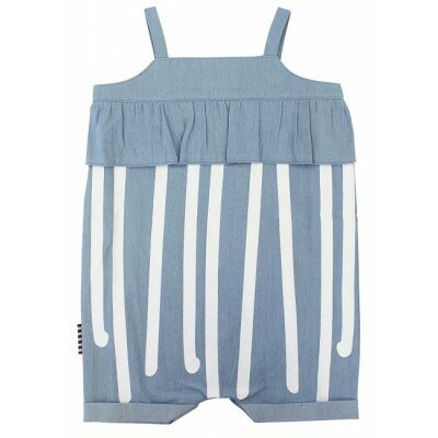 Sookibaby Stripe Chambray Frilly Playsuit
