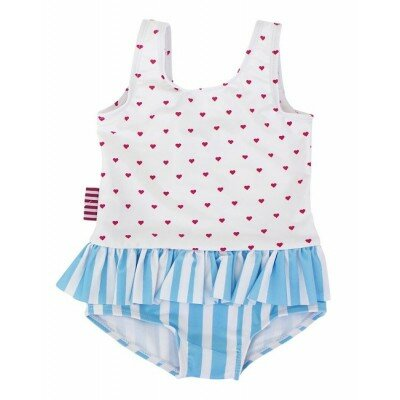 Sookibaby Heart Stripe Frilly Skirt Swimmers